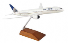 Boeing 787-9 United Airlines USA Resin Skymarks Desktop Model 1:200 SKR5066 Wood Display Stand EA